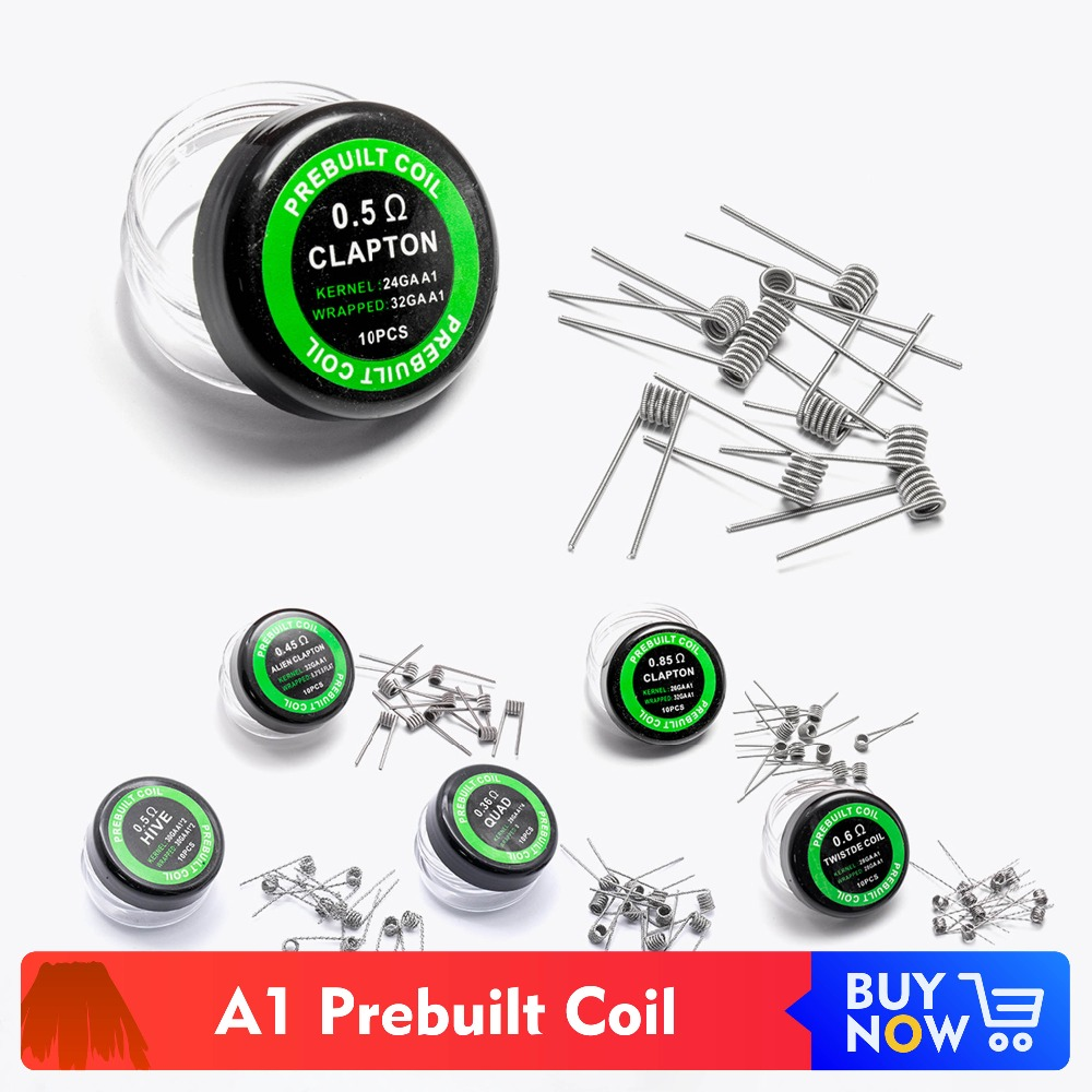 Quartz Banger Flat Twisted Fused Clapton Hive Premade Wrap Wires Alien Mix Twisted Quad Tiger Coils Heating Resistance Rda Coil