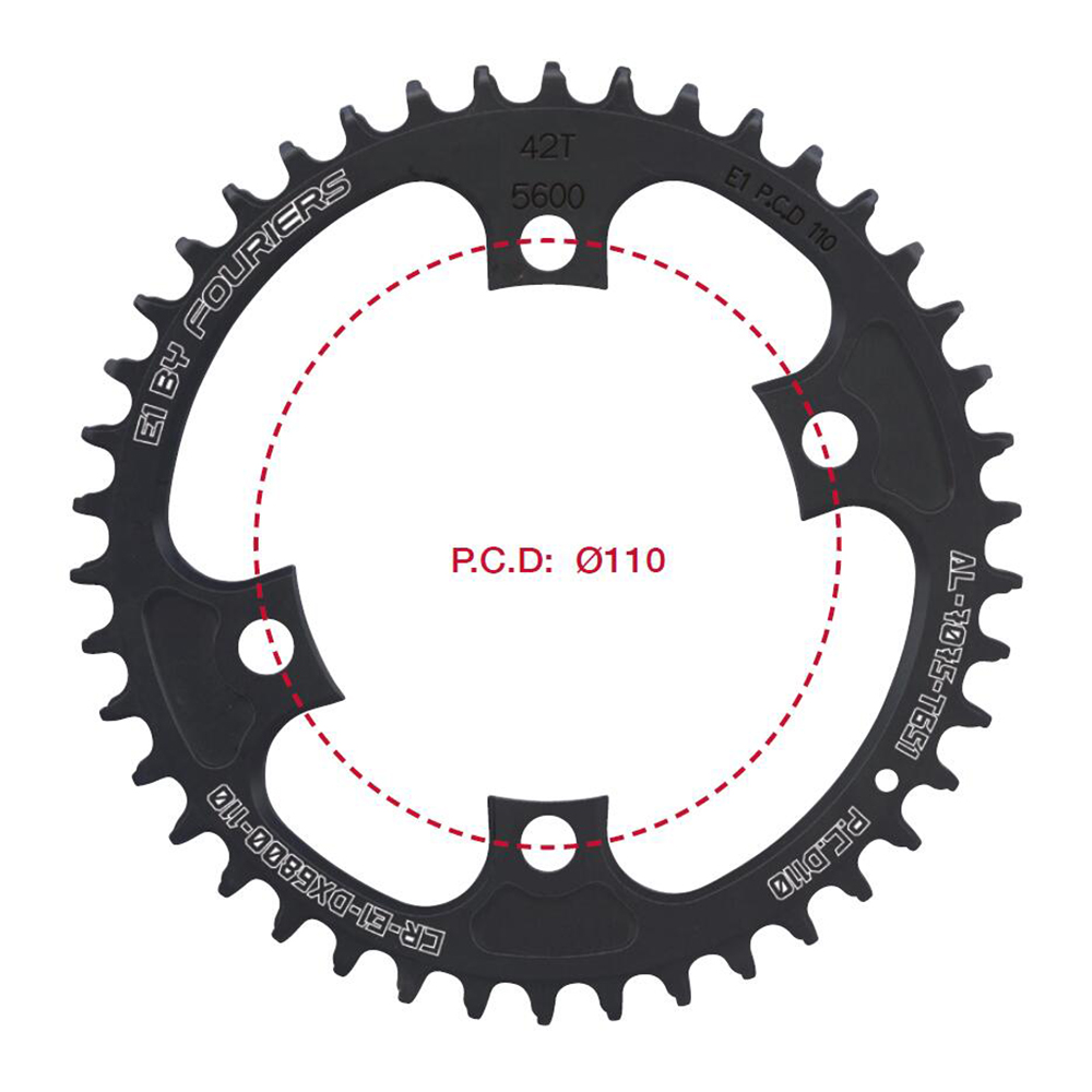 Fouriers CNC Single Chainring Road Bike Chainwheel BCD 110 mm 42t 46t Narrow Wide Teeth Fit 105 5800 Ultegra 6800 11 speed 11s cnc al7075 oval single chainring chain ring bcd 96 40t 42t 44t crank 1 x speed for shimano fouriers