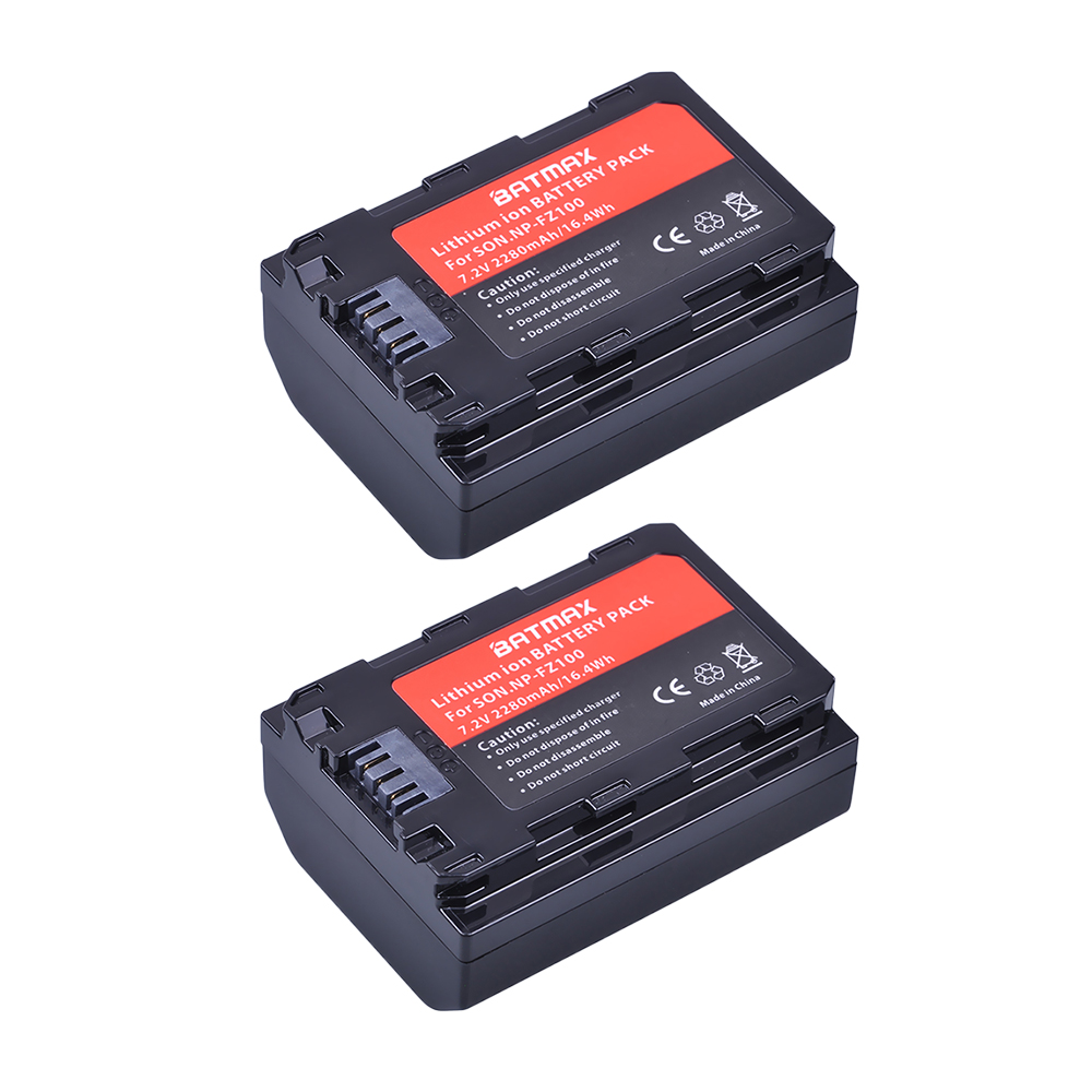 Sony NP-FZ100 Rechargeable Li-Ion Battery 2280mAh for a9 a7R III a7 III Cameras