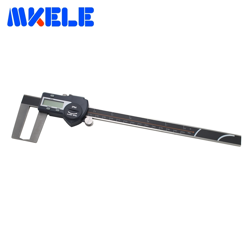 цена на 0-200mm Outside Groove Digital Vernier Caliper High-Accuracy Stainless Steel Electronic Digital Vernier Caliper IP54 Waterproof
