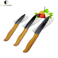 Designed Set Of Kitchen Knives 3 4 5 Fruit And Vegetable Cooking Tools Bamboo Handle With