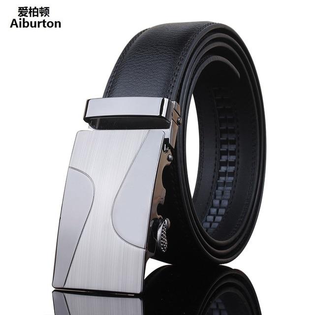 Cinturones de diseño de los hombres de lujo de alta calidad de cuero  genuino Automática Hebilla 802a64654b6a