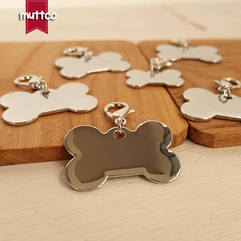 50pcs/lot S size wholesale high quality simple bone sharp DIY dog id tag blank can crave name and mobile dog id tag DIT-016