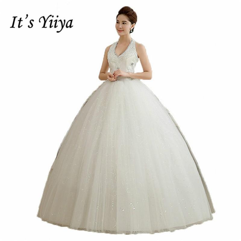 Это yiiya Новинка 2017 г. белое платье принцессы модная свадебное кружевное платье Романтический Тюль Свадебные платья vestidos De Novia HS102