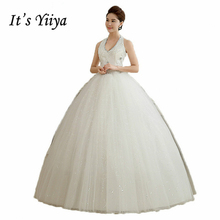 It's Yiiya new 2017 white princess fashionable lace wedding dress romantic tulle Bridal dresses Vestidos De Novia HS102