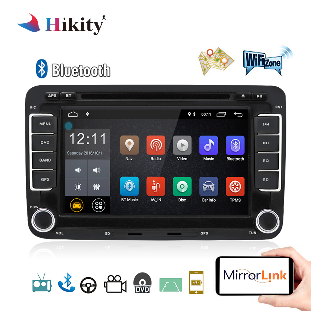 hikity car multimedia player android 2 din car radio gps. Black Bedroom Furniture Sets. Home Design Ideas