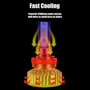 Image 4 - 2X H7 H4 H11 H8 H1 HB3 9005 9006 H9 HB3 HB4 LED Canbus LED Voiture Phare Ampoule 10000LM 100W 6000K 12V Automobile Brouillard Lampe