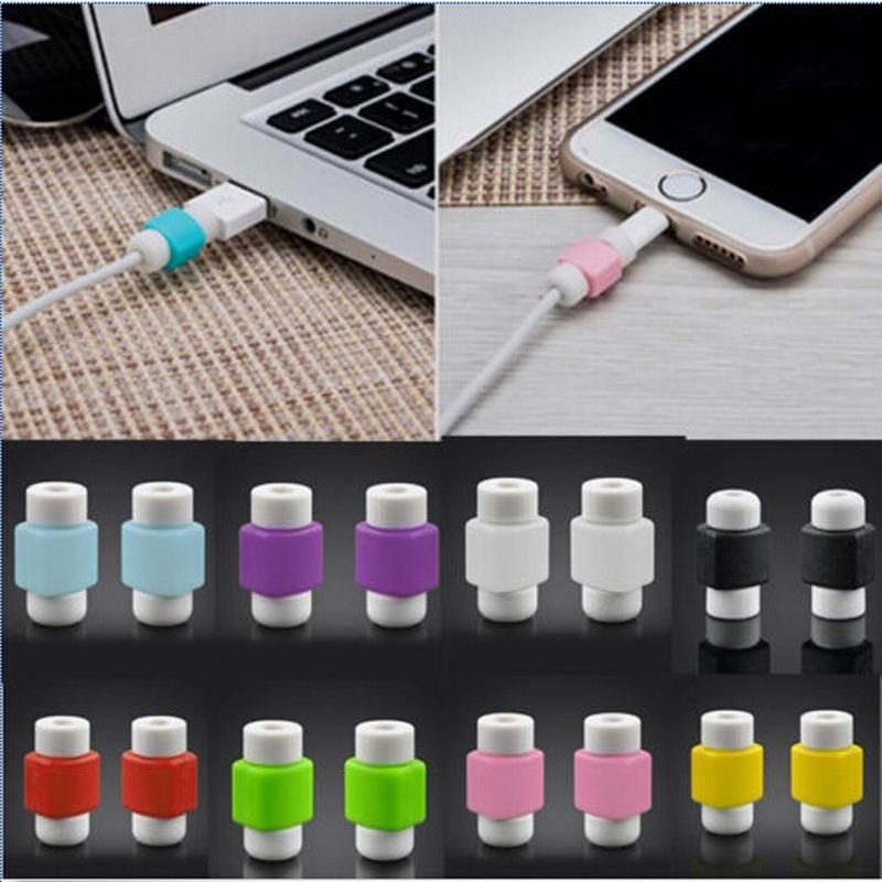 10 Pieces Lightning USB Charger Cable Saver Protector Cable Protector Charging Line Earphone Apple MacBook Pro Air Iphone