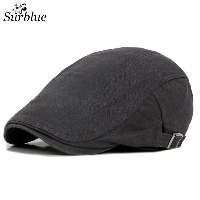 Surblue pria Baret Topi Vintage Yang luar Olahraga Katun Musim Dingin Musim  Semi Duckbill topi Mepet 8dbcac63f9
