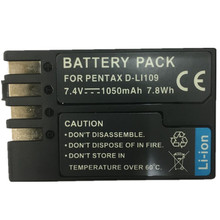 DLI109 lithium batteries pack D-LI109 Digital Camera Battery D LI109 For PENTAX K-R K-2 KR K2 KR K30 K50 K-30 K-50 K500 K-500