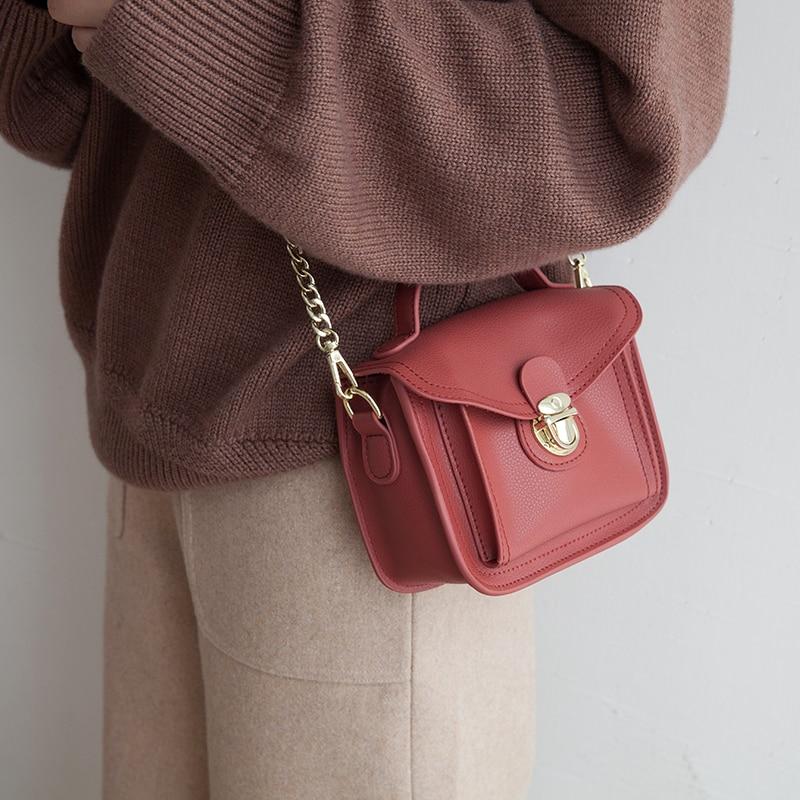 VENOF mode 2018 petites chaînes sac femmes couleur unie Messenger sacs femme sac à main sac à bandoulière rabat femmes sac Bolsa Feminina