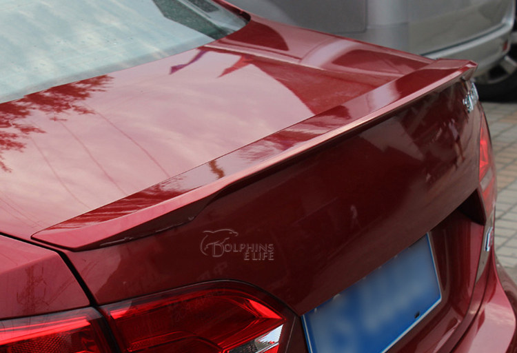 Without Paint Car Styling Rear Trunk Lid Wing Spoilers For Volkswagen Jetta 2011 2012 2013 2014 2015 ABS Chrome Auto Accessories car rear trunk security shield shade cargo cover for nissan qashqai 2008 2009 2010 2011 2012 2013 black beige