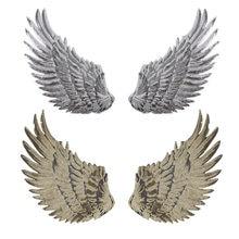 Patchs à paillettes ailes d'ange pour vêtements d'enfants, Patch brodé à coudre, Motif autocollant appliqué pour tissu, DIY bricolage, 1 paire