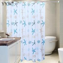 Waterproof Mildew Peva Modern Shower Curtain Starfish Partition Fresh Seaside Style Bath Screens Bathroom Forshower Room