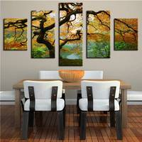 Dp Artisan 5 Panels Tree Spray Wall Pictures For Living Room Cuadros Decoracion Wall Painting No
