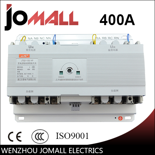 400A 4 poles 3 phase automatic transfer switch ats without controller цена
