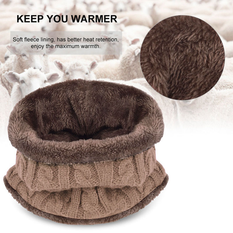 Warm Knitted Hat and Circle Scarf (14)
