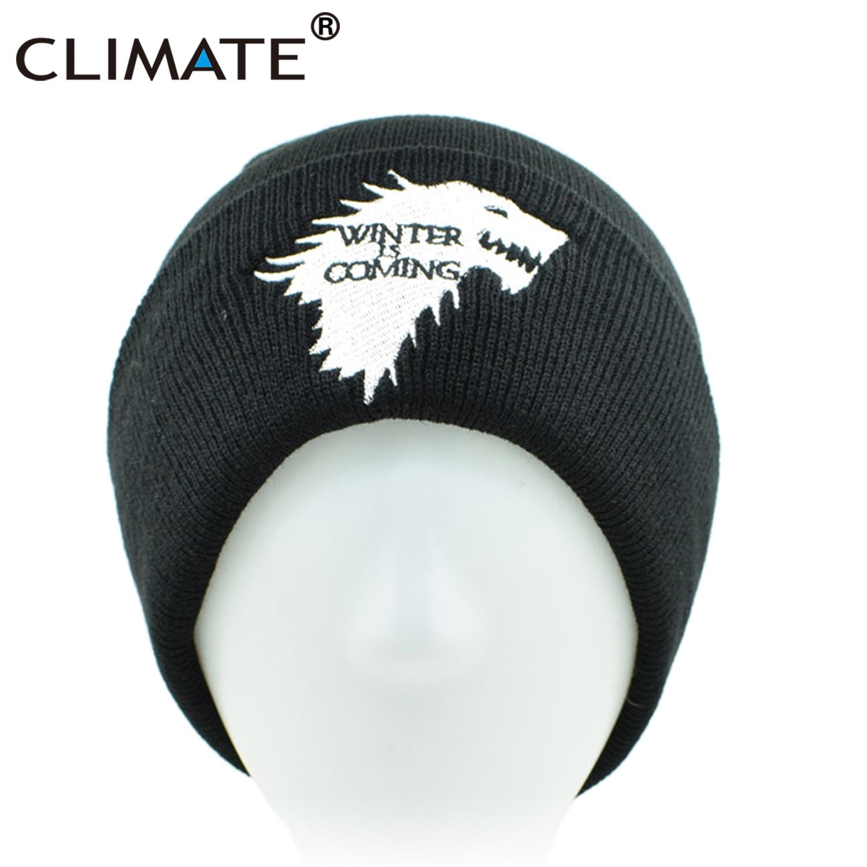 eb2946922df CLIMATE Men Beanie Hat Men Women Winter Hat Game of Thrones House Targaryen  Dragon Stark Hat Winter Warm Knit Beanie Men Women-in Skullies   Beanies  from ...