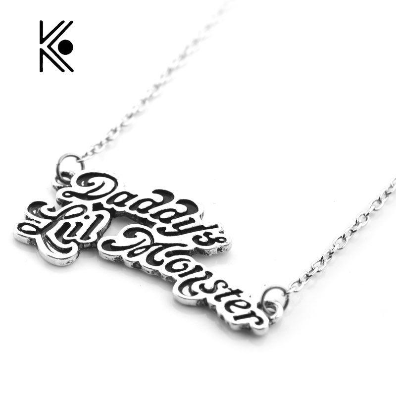 Cool suicide squad necklace harley quinn joker daddys lil monster cool suicide squad necklace harley quinn joker daddys lil monster pendants alloy necklace aloadofball Gallery