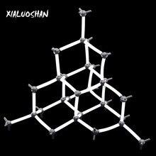 Учебный Эксперимент 9 мм Алмазная модель кристаллической структуры Алмазная модель химические кристаллические молекулярные модели органической химии