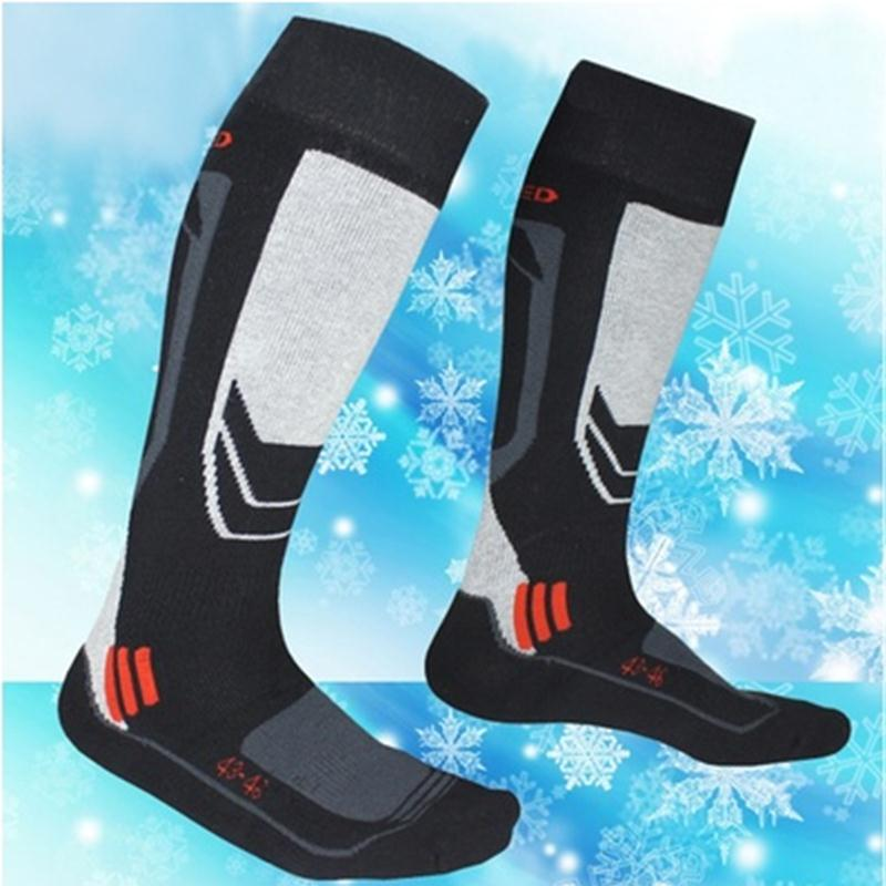 VESSOS 1 pair Mens Long Cotton Winter Long Thick Thermal Snow Ski Hiking Mountaineering Outdoor Sport Socks Knee High Stockings
