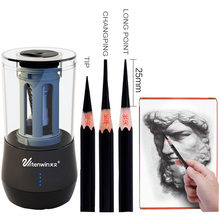 TEN-WIN Electric Pencil Sharpener creative Dual Purpose Multifunction Automatic Art Learning Sketch Electronic