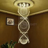 DHL Creative crystal chandeliers Dia800*H3000mm villa duplex stairs hall led light hotel crystal chandeliers JF1299