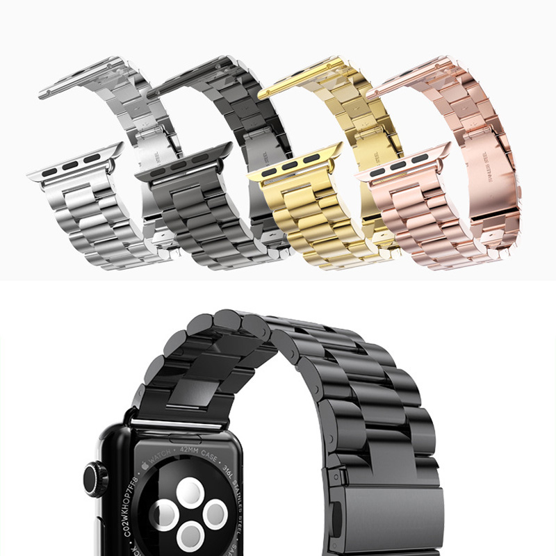 2016 Stainless Steel Watch Band For Iwatch Apple Watch band strap link bracelet accessories 38mm 42mm Black Silver with adapter 13 inch kids backpack monster high children school bags girls daily backpacks students bag mochila gift