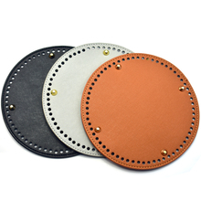 Bag Circle Bottoms with Holes and Gold Rivets Screws Leather Bottom for Handbag Shoulder Bag Handmade DIY Accessories 19*19cm