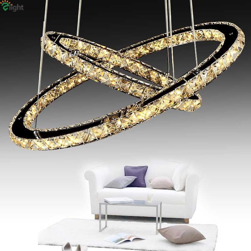 Modern Lustre Crystal Led Pendant Chandeliers Luminaria Chrome Metal Dining Room Led Chandelier Lighting Hanging Lights Fixtures