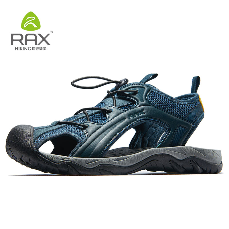 RAX Outdoor Hiking Shoes Men Summer Sandals Shoes Men Breathable Lightweight Sports Water Shoes Fishing Shoes Men Summer 465 2017 new rax spring and summer trace shoes men interference water breathable non slip hiking shoes mesh shock absorber insoles