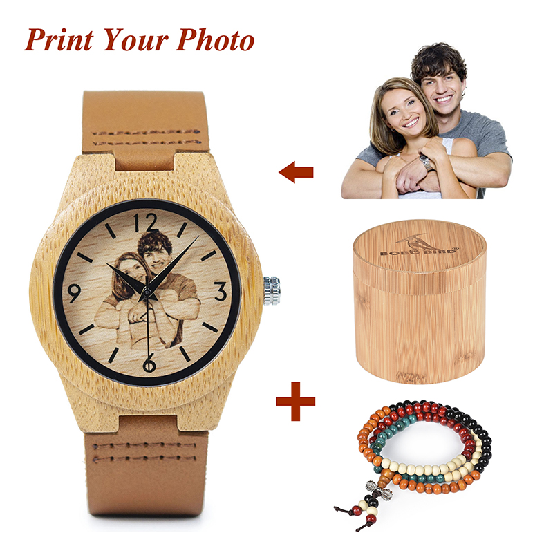 BOBO BIRD Men Women Quartz Wristwatch With UV Printing Photo Bamboo Watches OEM Customized Gift BOBO BIRD Men Women Quartz Wristwatch With UV Printing Photo Bamboo Watches OEM Customized Gift