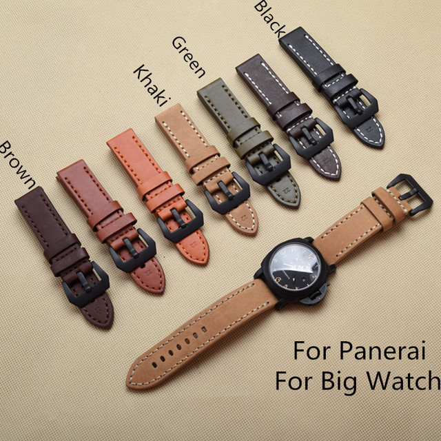 Types Of Watch Bands >> 20mm 22mm 24mm 26mm Multicolor Italy Crazy Horse Leather Watchband