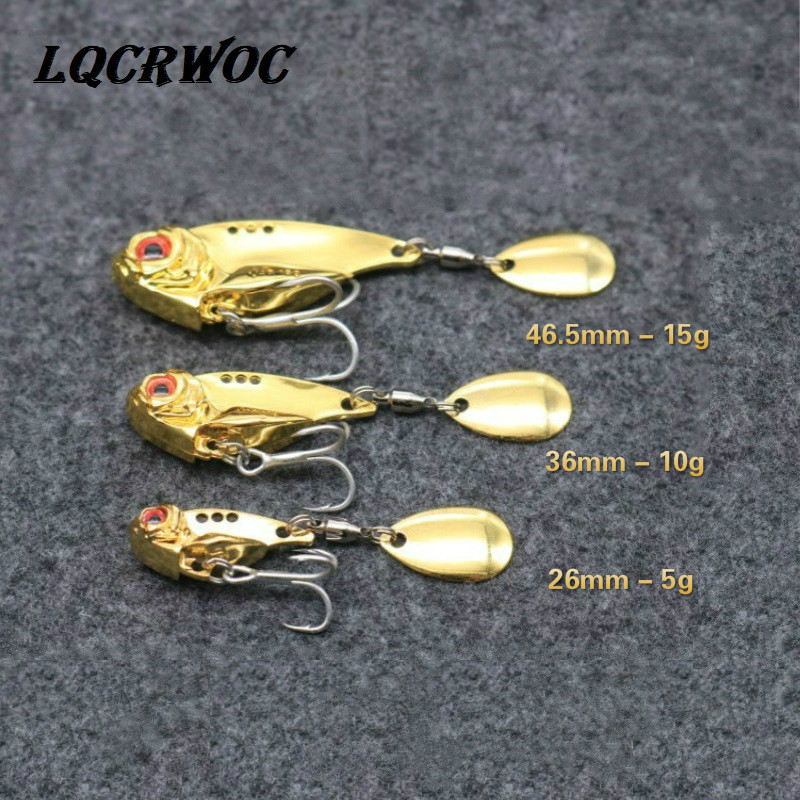 NEW Vib Metal lure fishing Spoon lures Sequins spinnerbait vibrating light japan fishing tackle goods grip swivel jigging winter in Fishing Lures from Sports Entertainment
