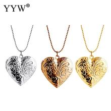 цена на YYW 2019 Rose Gold Zinc Alloy Locket Necklace For Women Men Heart Shape