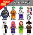 8 ШТ. PG8013 Супер heros Suicide Squad Джокер Харли квинн DC игрушки Совместимо с Лепин