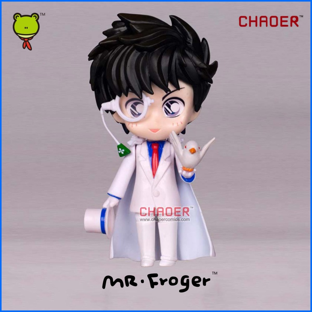 Mr.Froger Detective Conan Kid the Phantom Thief Chibi Doll figure Face transplant Action Figures Animation Brinquedos Models