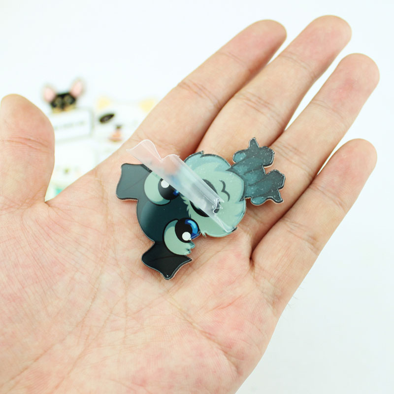 Fashion Hot Funny Charm Cute Cartoon 1pcs Animal Husky Pet Acrylic Collar Pins Badge Corsage Acrylic Badge Cute Cat Dog Broches in Brooches from Jewelry Accessories