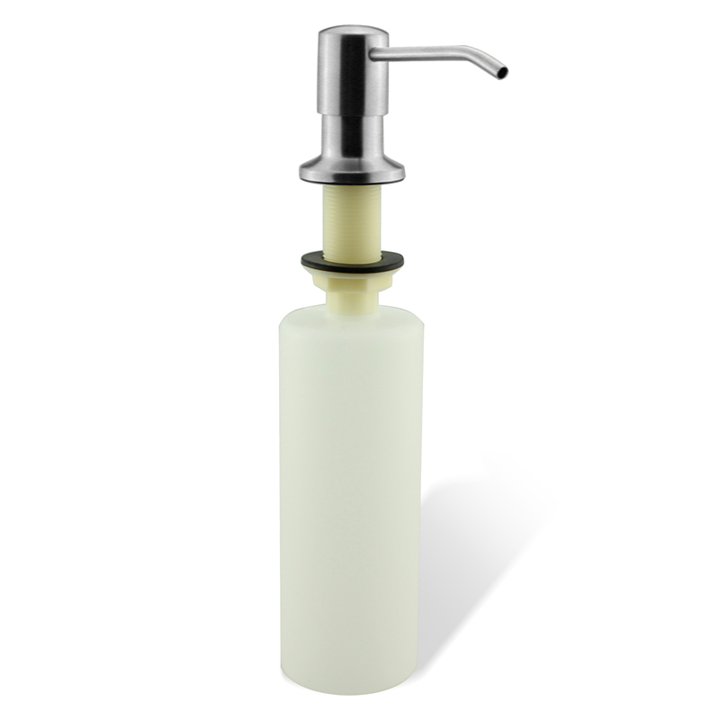 SUS 304 Stainless Steel Chrome Brushed Kitchen Sink Liquid Soap Dispenser Build In Hand Pump Bottle 17 OZ(500ML) modern black kitchen sink soap dispenser stainless steel hand dish liquid soap pump 500ml