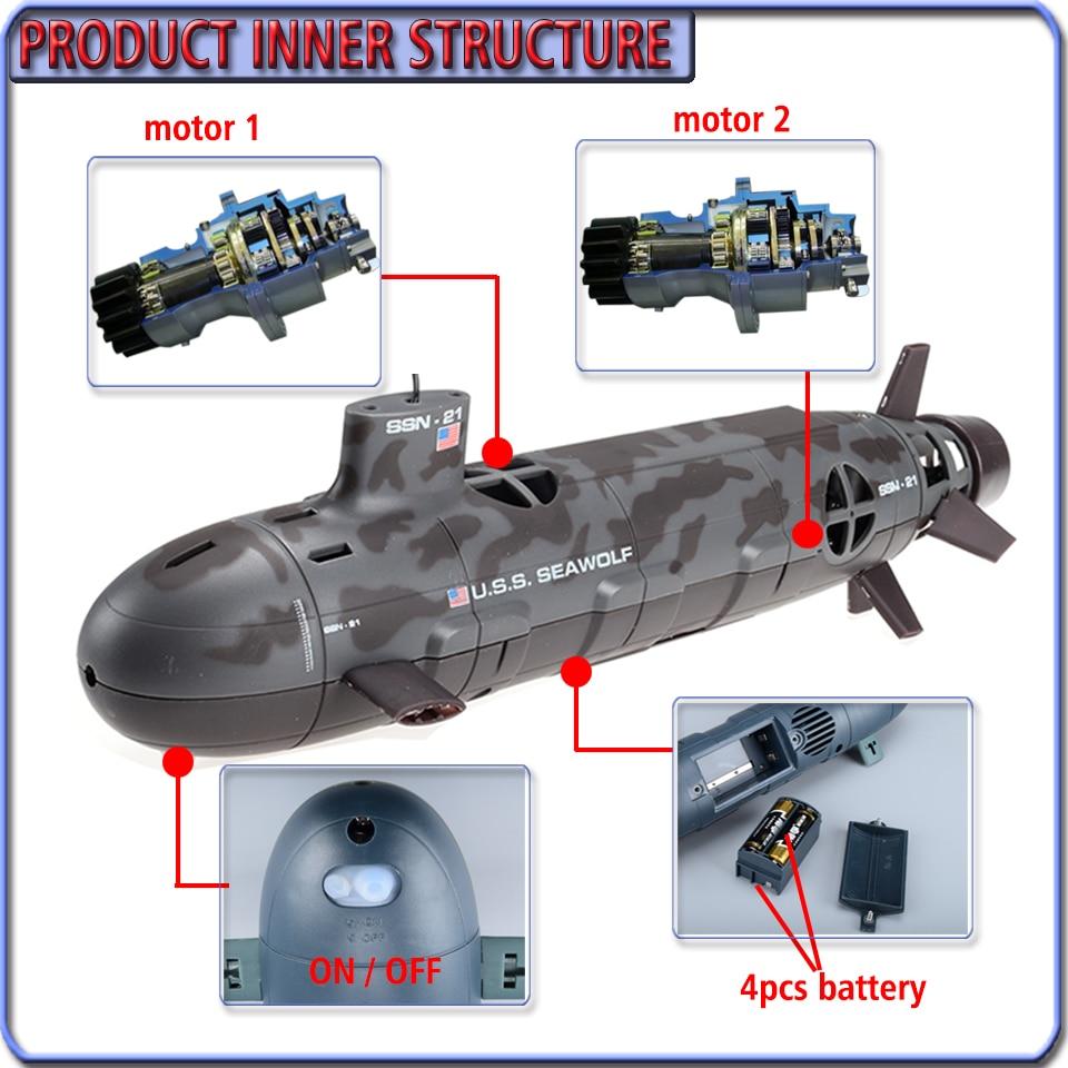 RCTOYCO Vs 餌のおもちゃ子供 潜水艦 5