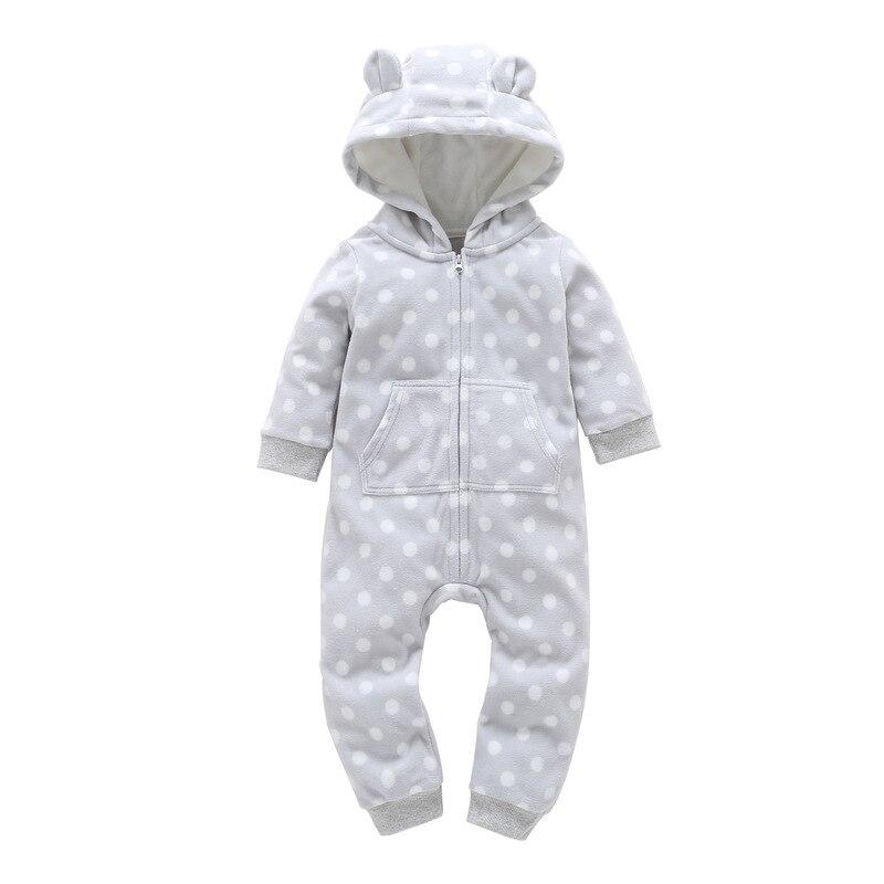HTB1Otuddyb.BuNjt jDq6zOzpXap 2018 New Bebes Clothes Newborn One Piece Fleece Hooded Jumpsuit Long Sleeved Spring Baby Girls Boys Body Suits Romper