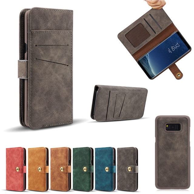 release date 7ccb7 338d9 US $15.99  Felidio Case for Samsung Galaxy S8 S8 Plus Wallet Case Magnet  Removable PU Leather Flip Cover with Card Slots Holders for S8Plus-in  Wallet ...