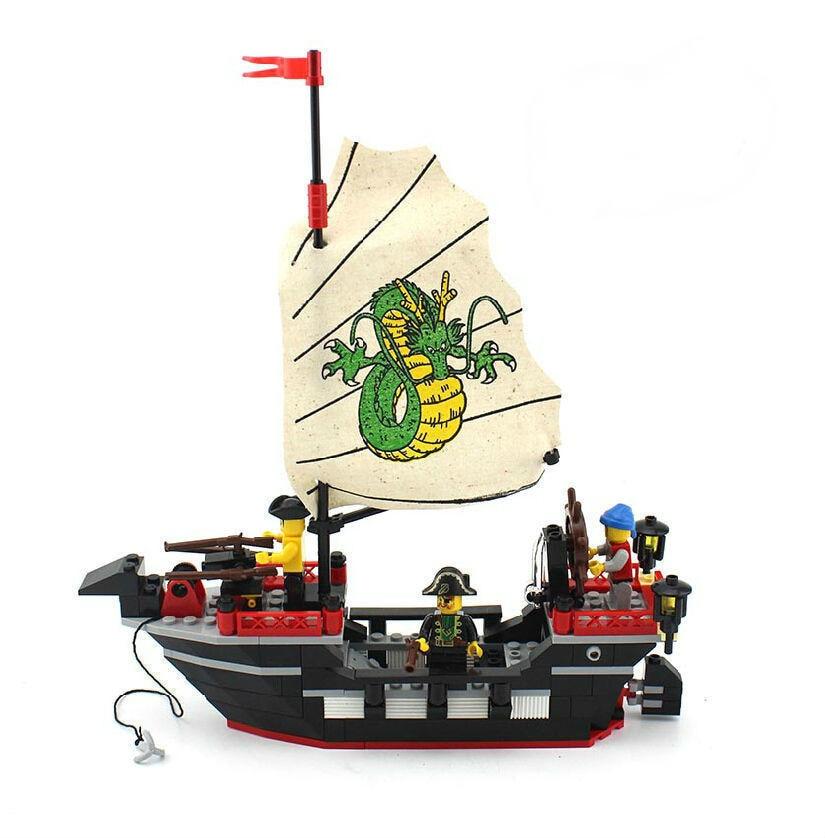 Enlighten 301 New 211pcs Pirate Series Pirate Ship Dragon Boat Model - Կառուցողական խաղեր - Լուսանկար 3