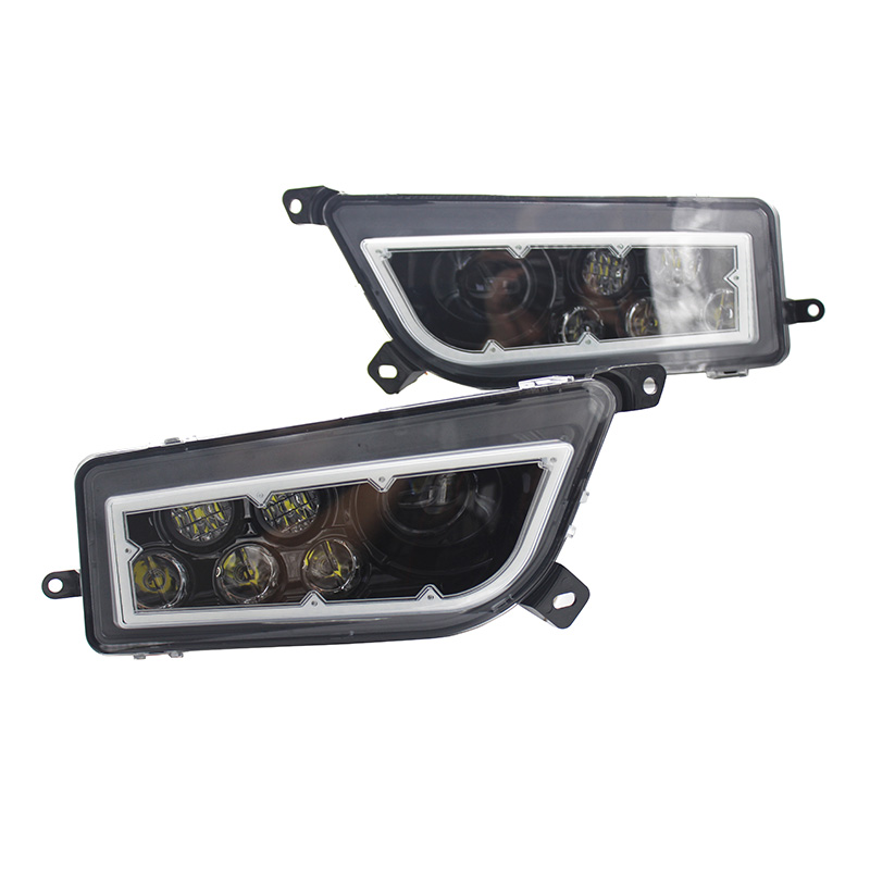 ATV Polaris General 1000 Led Headlighs , Polaris RZR XP1000 / Turbo Full Halo Angel Eyes LED Replacement Headlight Kit