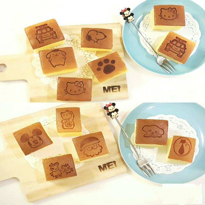 O molde feito sob encomenda do cozimento dos bolos marca fogo vara cozidos pães de madeira molde da marca de couro pode escolher o selo do teste padrão