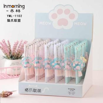 48pcs/set Cute Gel Pens Cat Claw Pen fresh Kawaii Ballpoint School Canetas Boligrafos Gift Stationery Office Supply 0.5mm