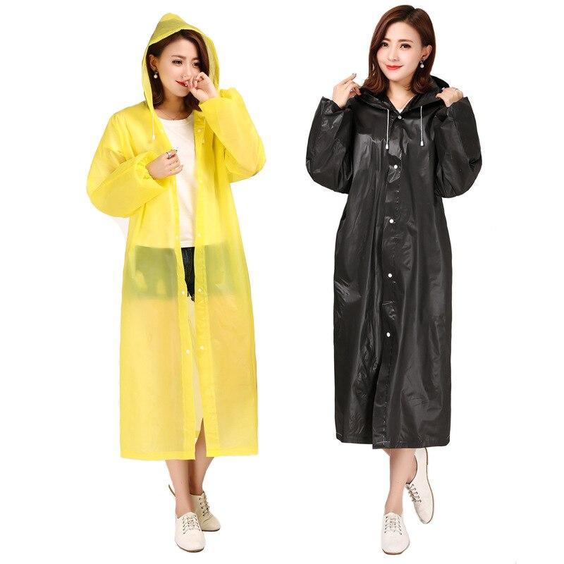 FASHION WOMEN/'S TRANSPARENT EVA RAINCOAT OUTDOOR TRAVEL WATERPROOF RAIN COAT