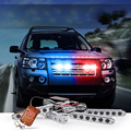 RF Wireless Remote Motorcycle Car Led flasher driving light Red blue White warning flash light Emergency strobe Fog Caution lamp