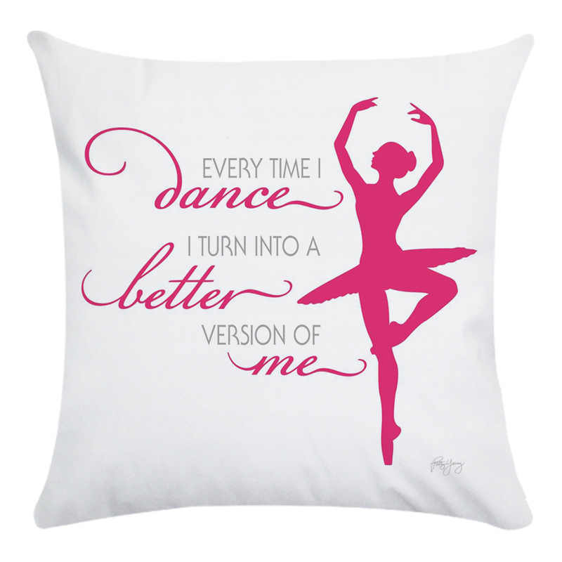 RUBYLOVE балетная танцовщица с рисунком наволочка короткая плюшевая Экологичная декоративная наволочка для дивана Cojine ZM015
