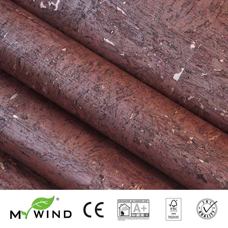 2019 MY WIND Noble Wine Red Luxury Taste Wallpapers Luxury 100% Natural Material Safety Innocuity 3D Wallpaper In Roll Decor